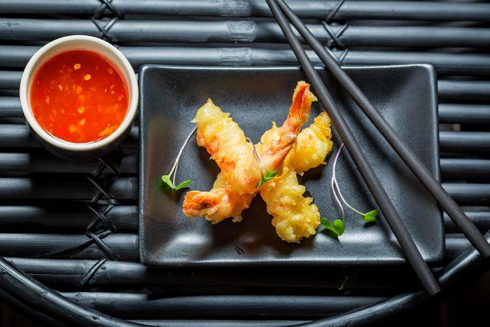 Préférez les sushis aux tempuras.