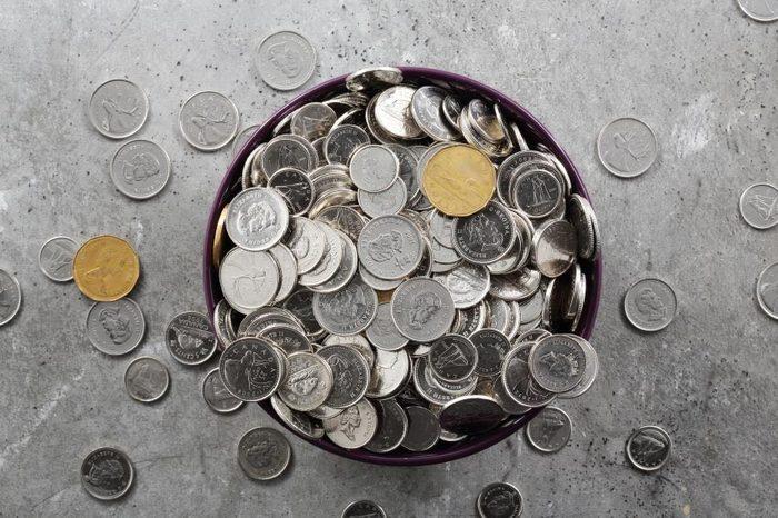 Trucs pour économiser : épargnez votre petite monnaie.