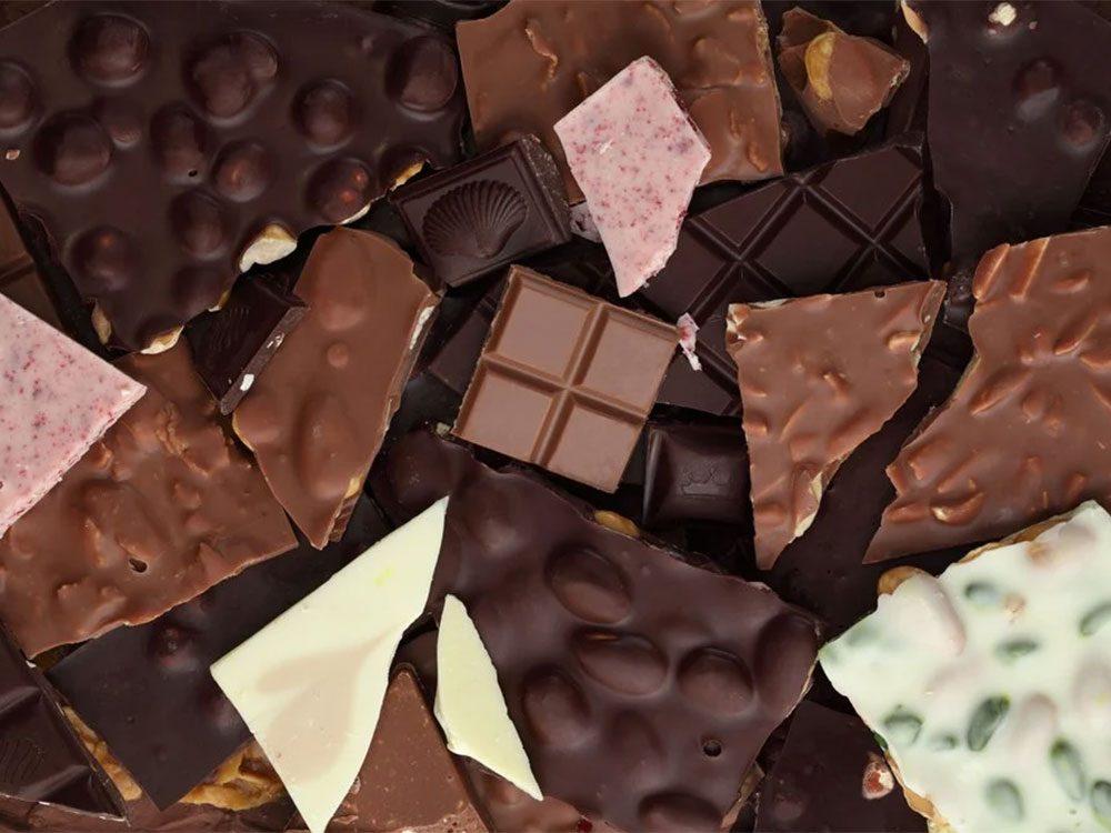 Il vaut mieux éviter de manger du chocolat avant de se coucher.