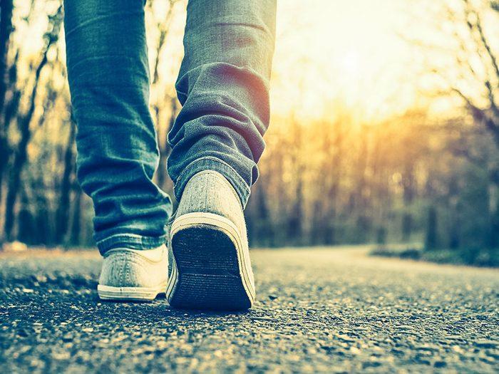 Voleur de mémoire : vous marchez d'un pas démotivé