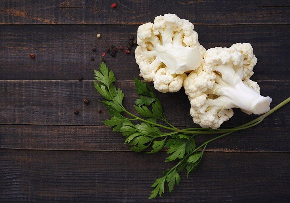 Le chou-fleur n'a pas plus de valeur nutritive en produit biologique.