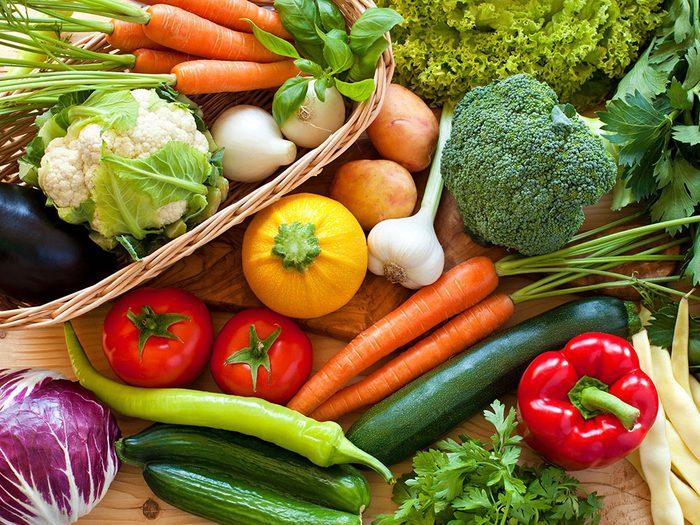 Mangez plus d'aliments végétaux pour ralentir le vieillissement.