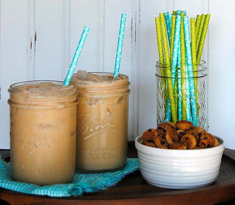 Recettes de café glacé: à la pâte à biscuit.