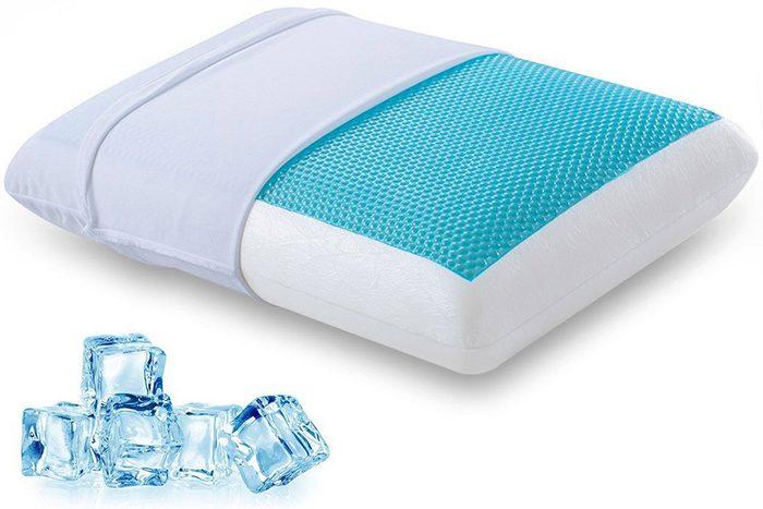 Vous pouvez rafraîchir votre lit avec un oreiller refroidissant.