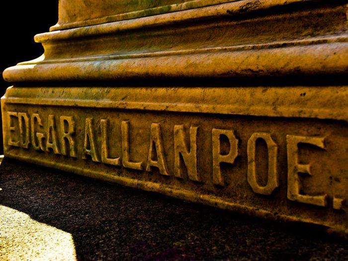 Dans le villa américaine de Baltimore, Maryland: la maison d'Edgar Allan Poe.