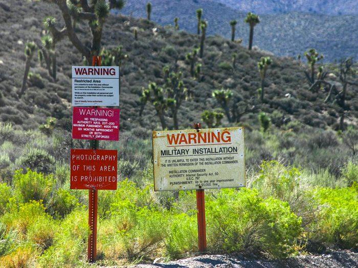 La ville de Lincoln County, Nevada: Zone 51.
