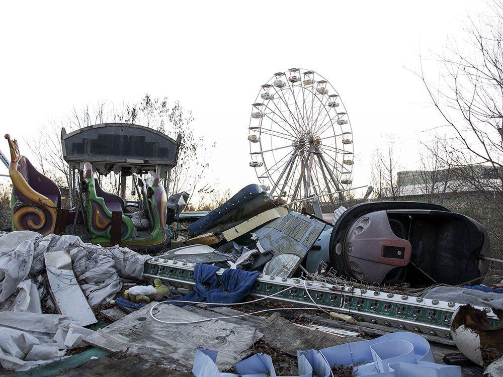 Six Flags, le parc d'attractions abandonné de la Nouvelle-Orléans en Louisiane. Un lieu abandonnés parmi d'autres dans le monde.