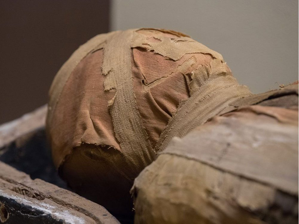 Dans la ville américaine de Philippi, Virginie-Occidentale: les momies de Philippi.