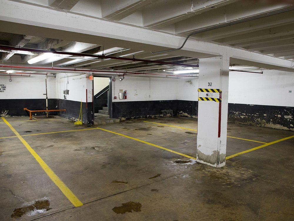 La ville américaine de Rosslyn, Virginie: le stationnement où se confiait «Deep Throat».