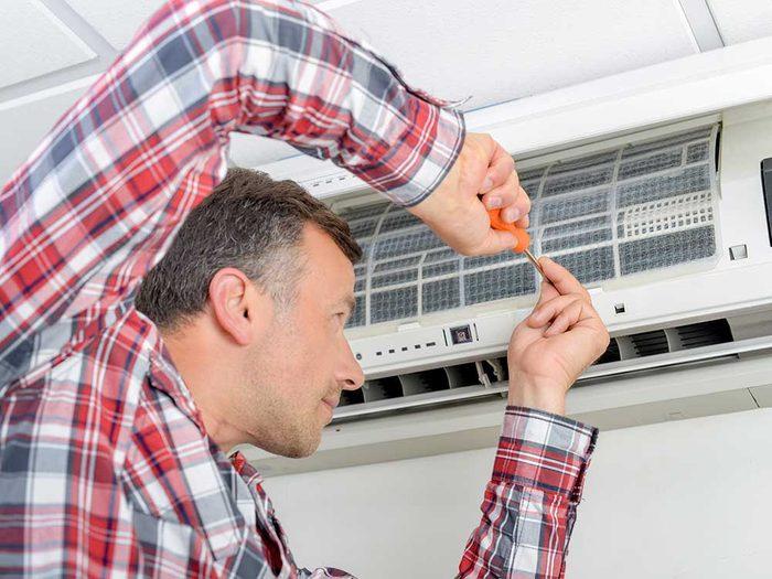 Faites attention à la durée de la garantie quand vous achetez un climatiseur.