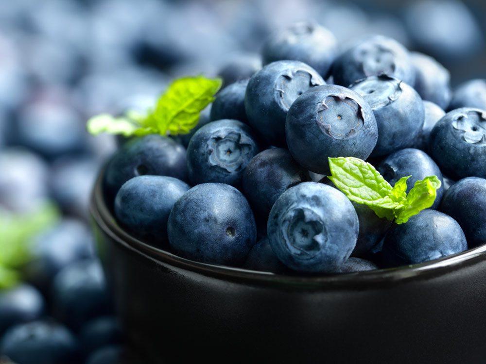 Les bleuets : de bons antioxydants.