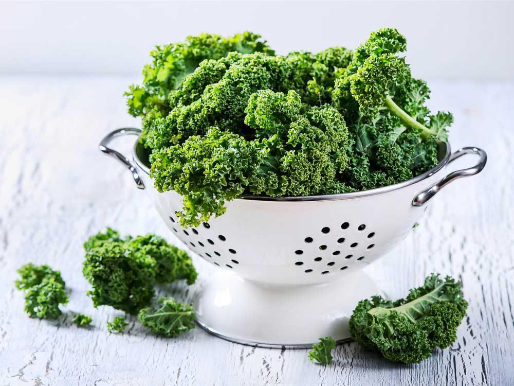 Le kale : un bon antioxydant.