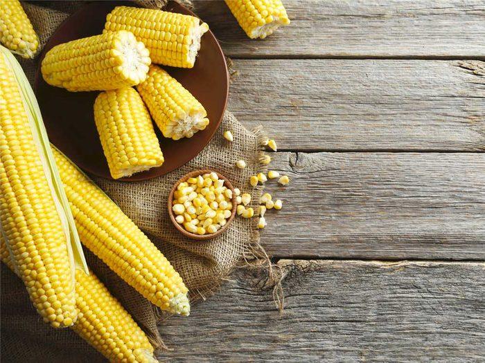 Le maïs : un bon antioxydant.