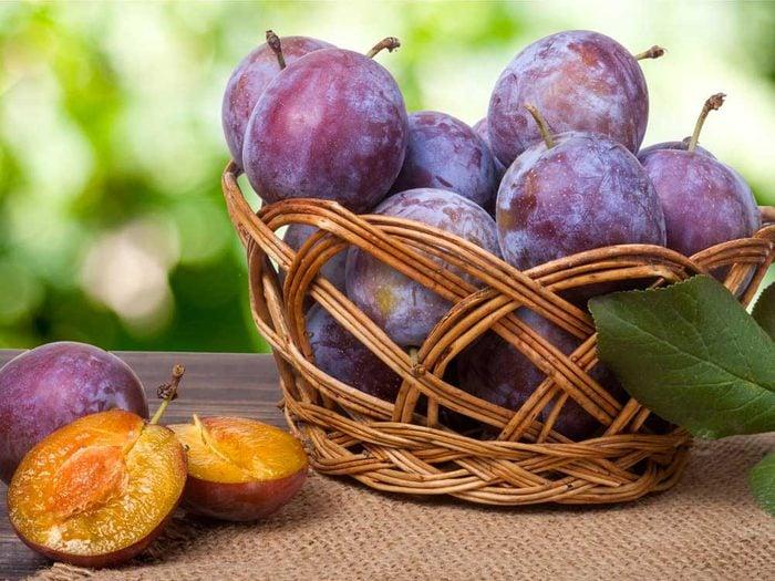 Les prunes : de bons antioxydants.