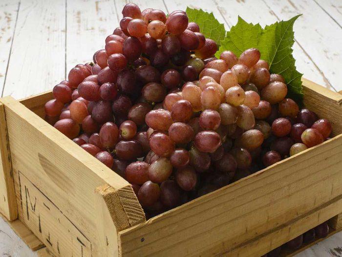 Le raisin rouge : un bon antioxydant.