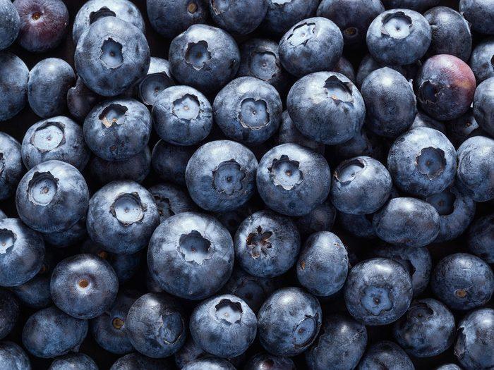 Les bleuets font partie des aliments riches en antioxydants.