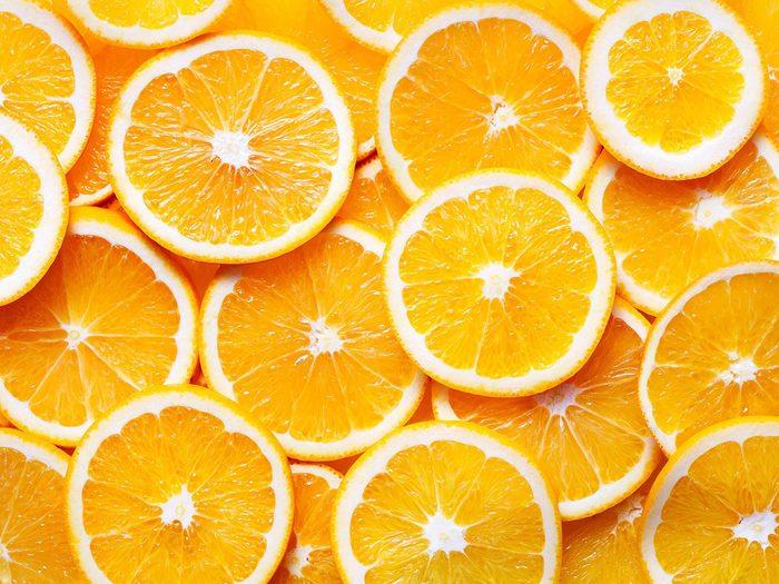 Les oranges font partie des aliments riches en antioxydants.