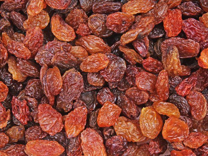 Les raisins secs font partie des aliments riches en antioxydants.