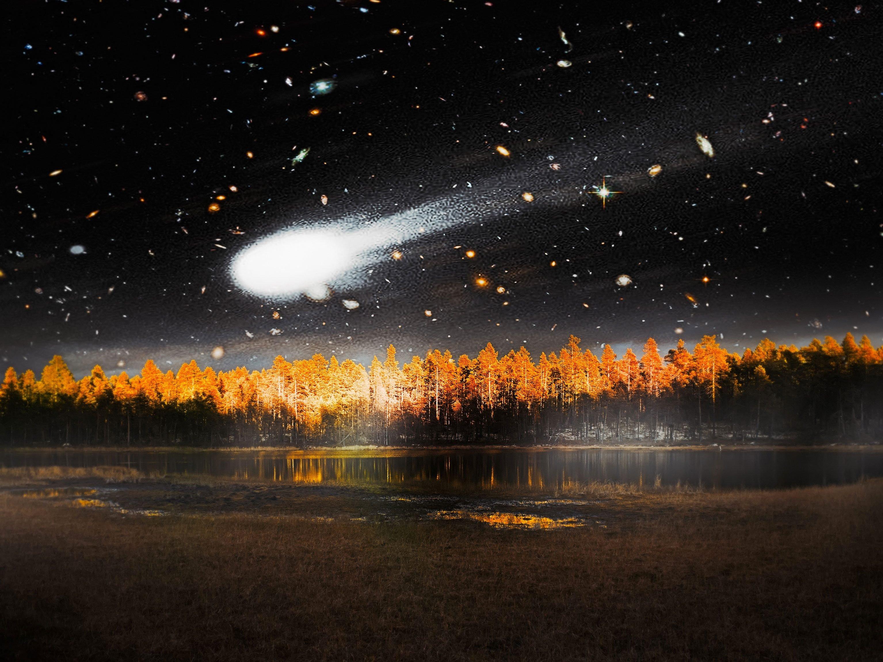 Une météoriteest un astéroïde qui survit à sa traversée de l'atmosphère de la Terre et qui atteint la surface.