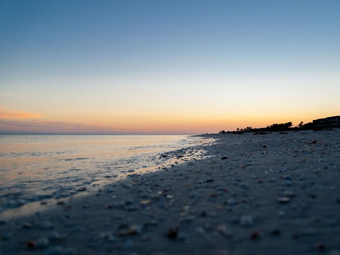 L'île de Sanibel en Floride est une des plus belles plages du monde.