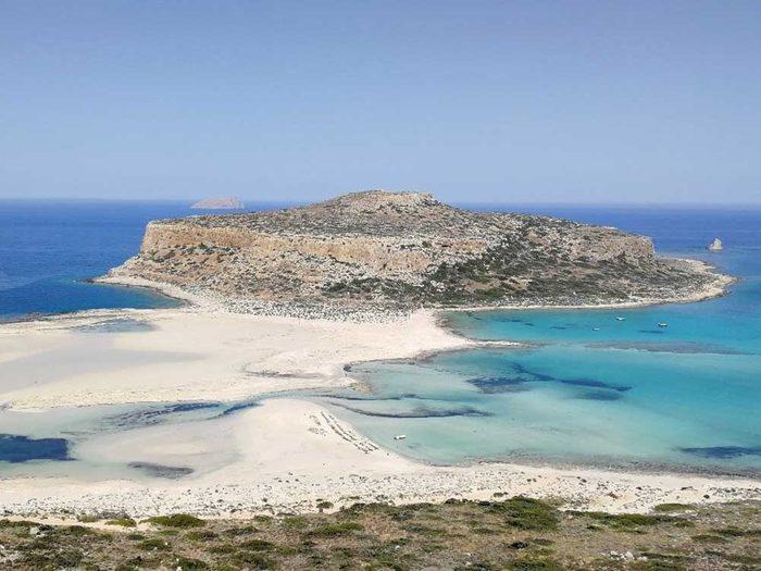 Une belle plage pour se baigner : Balos Lagoon, Kissamos en Crète.