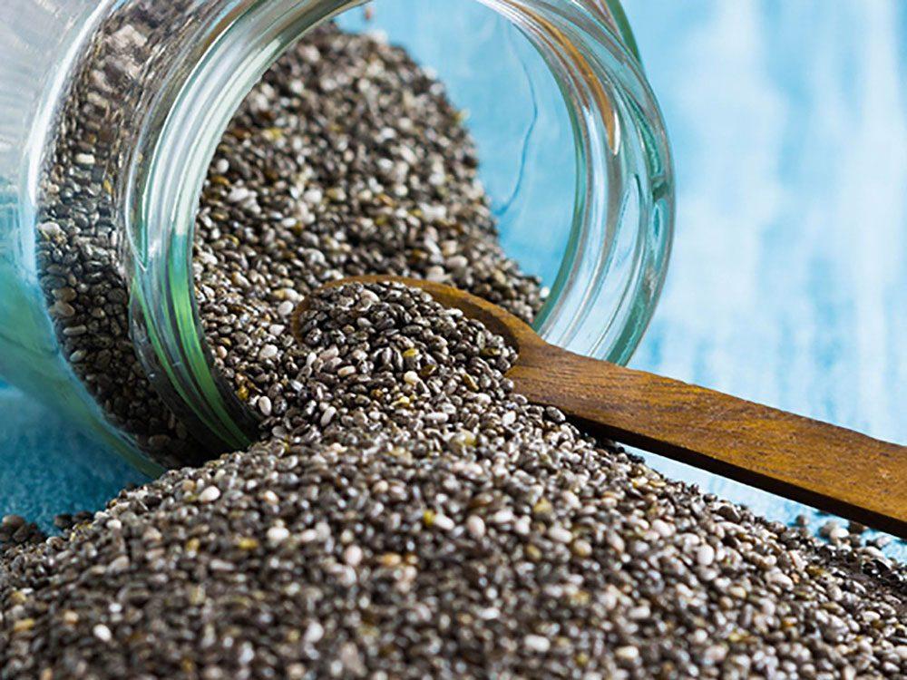Les graines de chia peuvent améliorer votre transit intestinal.