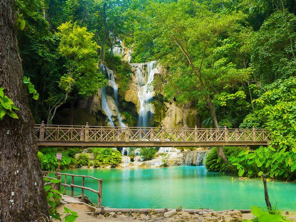 Luang Prabang au Laos (Asie du Sud Est) est un site entièrement classé au patrimoine mondial de l'humanité par l'UNESCO.