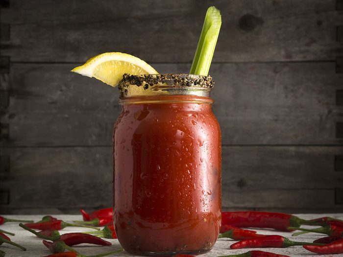 Le Bloody Caesar est l'un des mets traditionnels Canadiens.