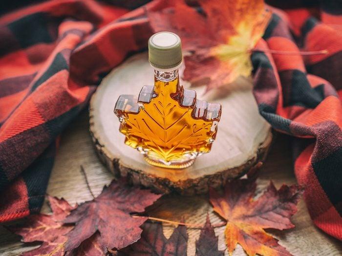 Le sirop d'érable est l'un des mets traditionnels Canadiens.