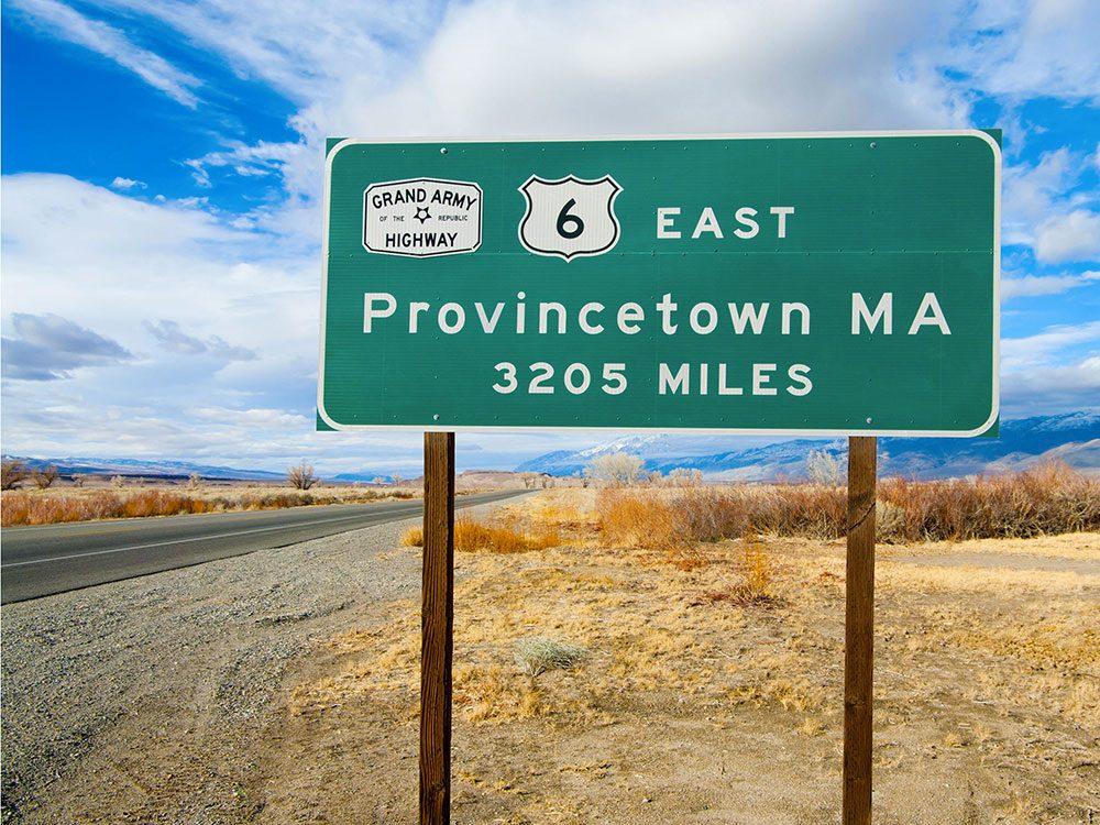 La route 6 dans le Massachusetts est une route américaine incontournable.