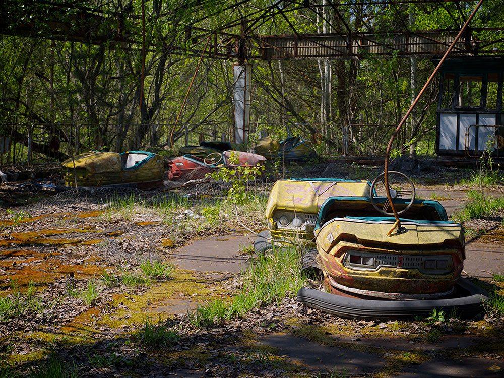 Après la ville voici le parc d'attractions de Pripyat en Ukraine, lui aussi faisant partie des lieux abandonnés dans le monde.