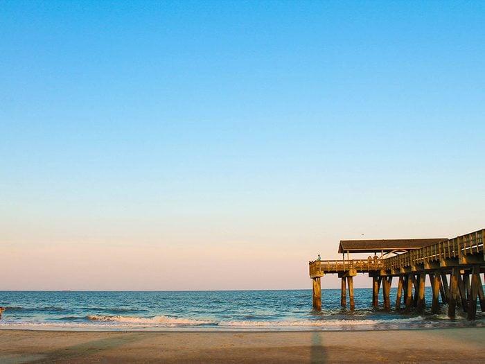 Tybee Island, Géorgie aux États-Unis est une des plus belles plages du monde.