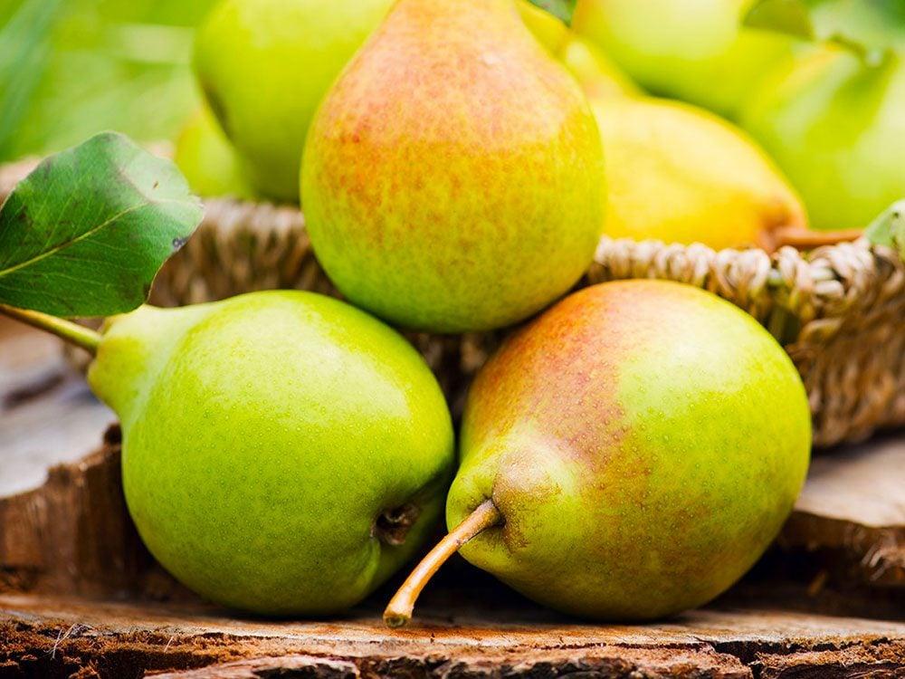 Les poires peuvent améliorer votre transit intestinal.