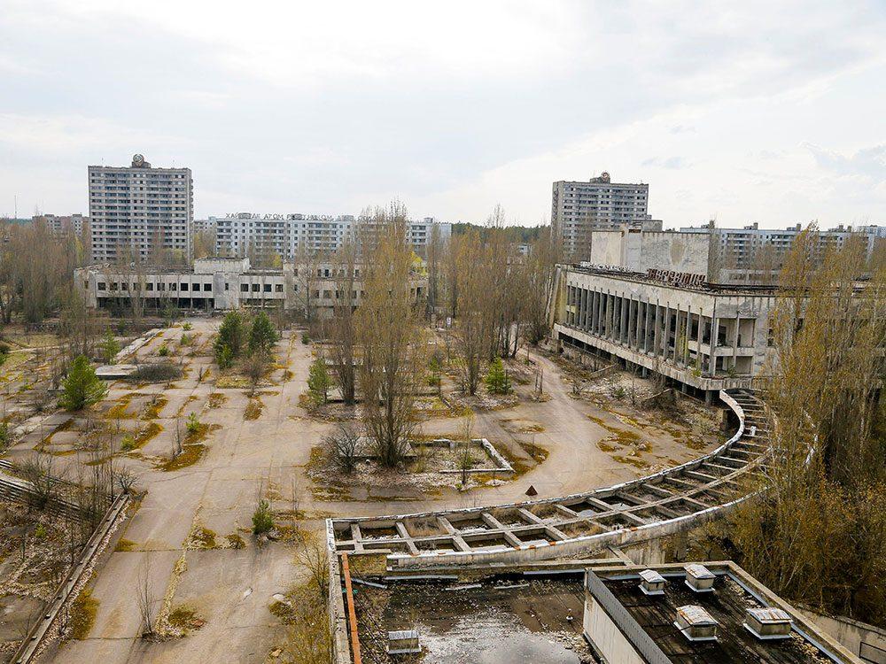 La ville de Pripyat en Ukraine, l'un des lieux abandonnés dans le monde.