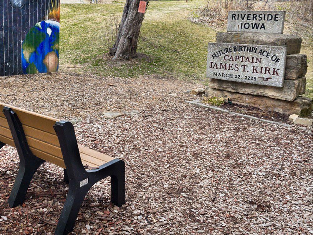 La ville américaine de Riverside, Iowa: lieu de naissance du Capitaine Kirk.