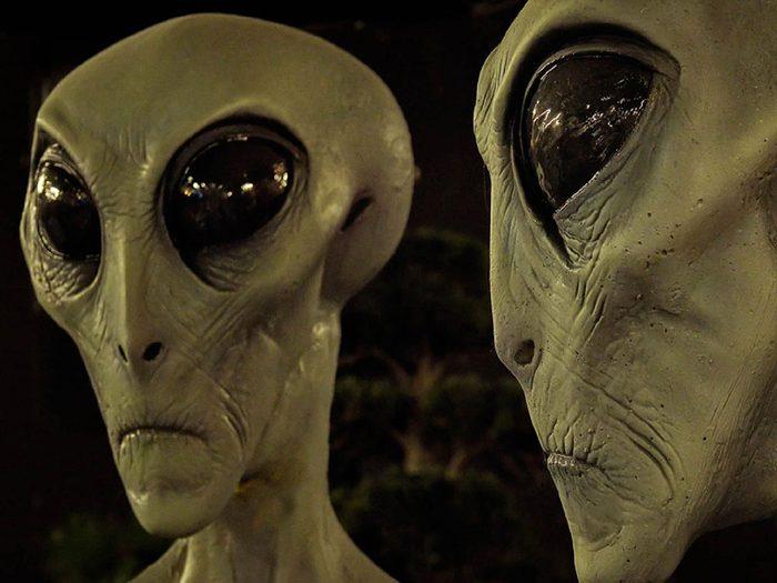 La ville de Roswell, Nouveau-Mexique: les extraterrestres.