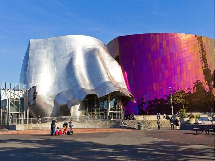 Dans la ville américaine de Seattle, Washington: le Temple de la renommée de la science-fiction.