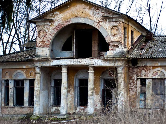 Ce manoir russe traditionnel est abandonné.