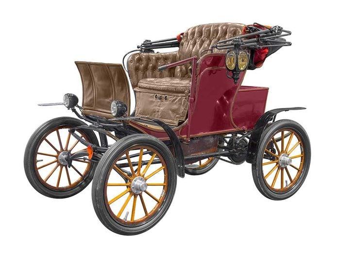 Une des premières voitures électriques.