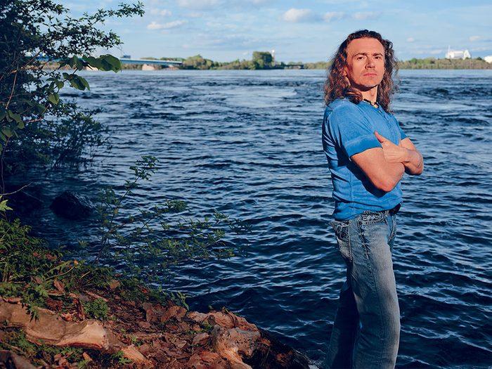 Drame vécu: Andrew Spiridonov emporté par le Saint-Laurent.
