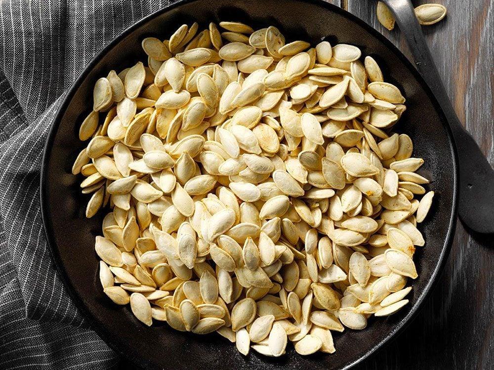 Les graines de citrouille sont des aliments riches en magnésium.
