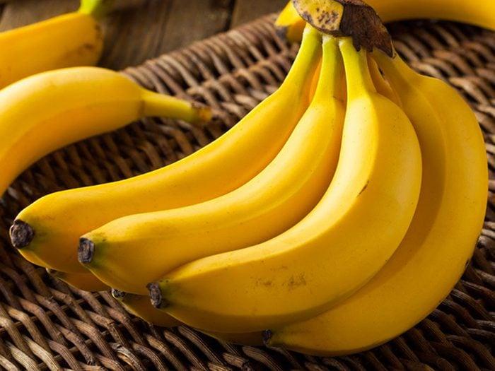 Les bananes sont des aliments riches en magnésium.