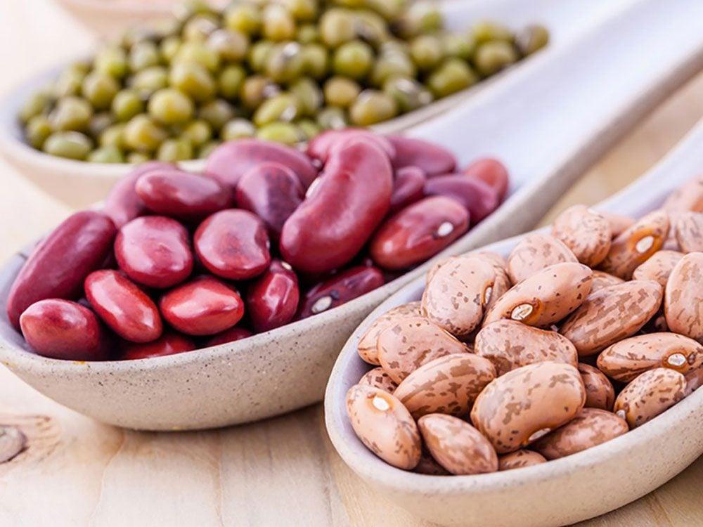 Les haricots secs sont des aliments riches en magnésium.