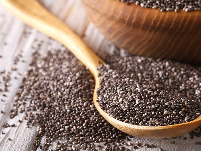 Les graines de chia sont bourrées de calcium.