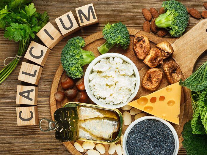 Il est facile de souffrir d'une carence en calcium.