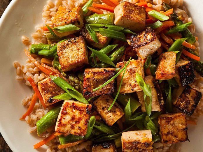 Carence en calcium: vous n'aimez pas le tofu.