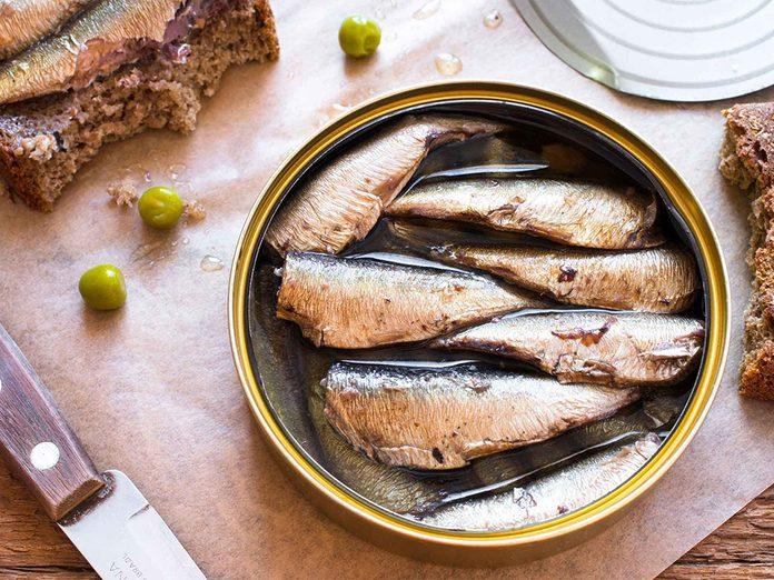 Ne mangez que du poisson frais peut provoquer une carence en calcium.