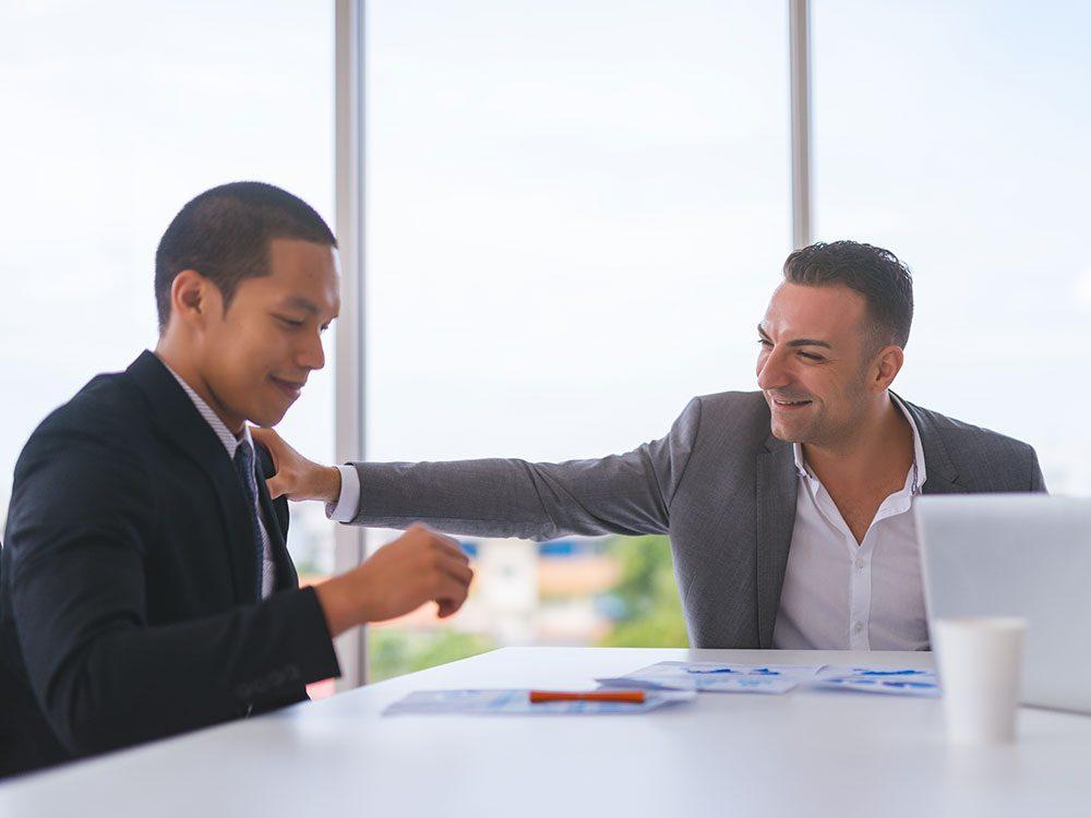 Qu'avez-vous répondu la dernière fois que quelqu'un vous a adressé une gentille remarque sur votre dernière réalisation professionnelle?