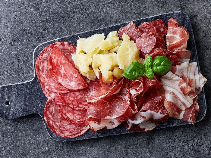 Évitez les viandes transformées de chez Costco.