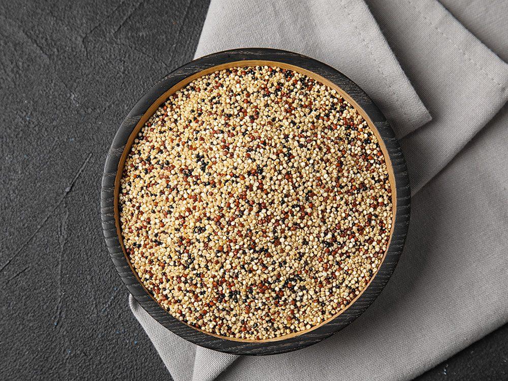 Essayez le quinoa et le riz brun précuit du Costco.